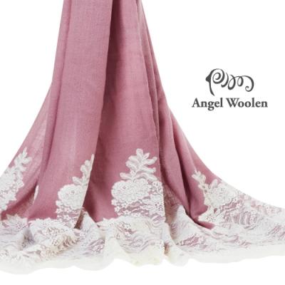 【ANGEL WOOLEN】細緻厚織蕾絲CASHMERE印度手工披肩(共五色)