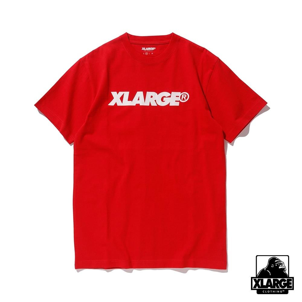 XLARGE SS TEE STANDARD LOGO短袖T恤-紅