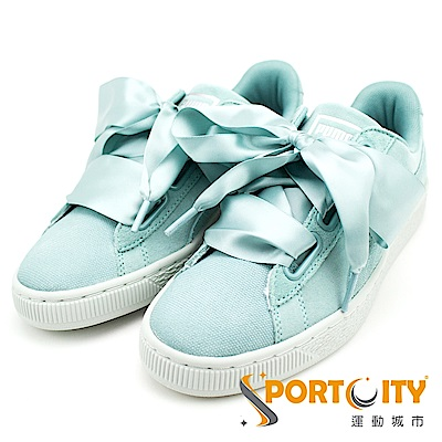 PUMA Suede Heart Pebble 女休閒鞋 粉綠