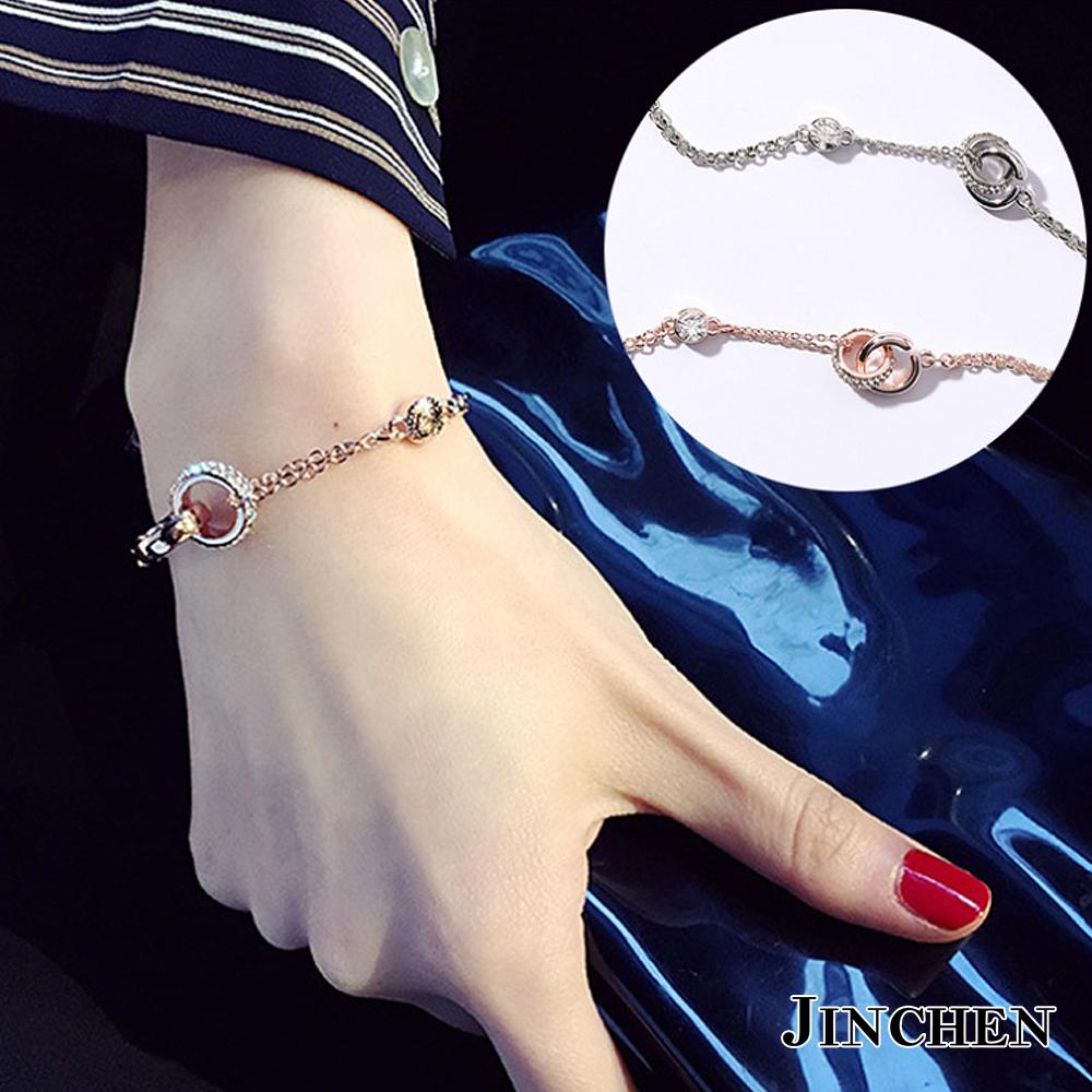JINCHEN 韓版合金雙圈手鍊