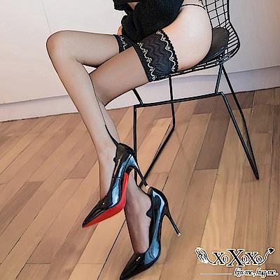 大腿襪 法式浪漫蕾絲防滑絲襪 黑膚2件組 XOXOXO