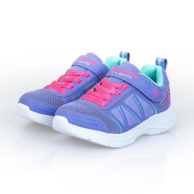 SKECHERS 女童系列 GLIMMER KICKS 燈鞋 - 302302LPERI