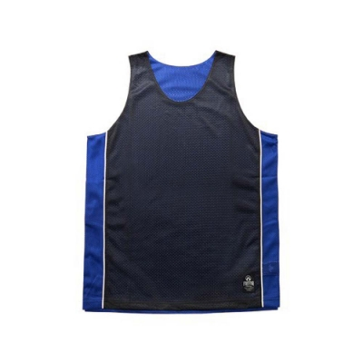 FIRESTAR 男運動籃球背心-雙面穿 B3707-92 黑寶藍