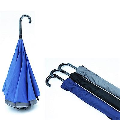 [團購2入組]好傘王 無敵3層電光反向直傘(多色任選)
