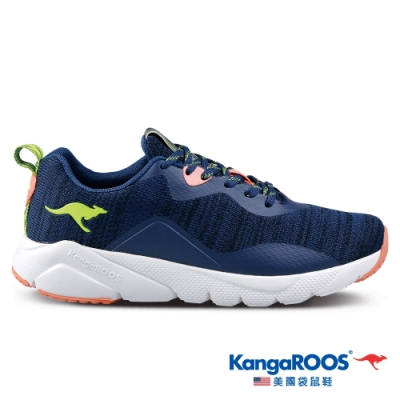 KangaROOS 美國袋鼠鞋 女 RUN FAST 超輕量慢跑鞋/慢跑鞋/休閒鞋/運動鞋(深藍-KW11606)