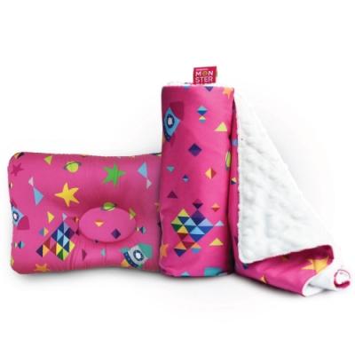 Monster Park-兒童專用棉被枕頭寢具套組-火箭套組 #兩款