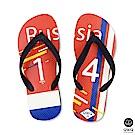 QWQ世界盃足球紀念鞋 俄羅斯 細帶女款款天然橡膠人字拖