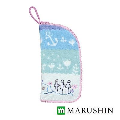 日本丸真 Moomin速吸雨傘水瓶拉鍊收納套-溜溜們花園