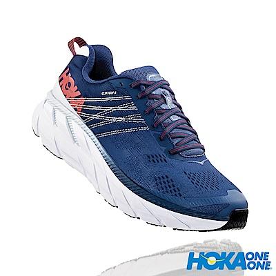 HOKA ONE ONE 男 Clifton 6 寬楦 路跑鞋 英倫藍