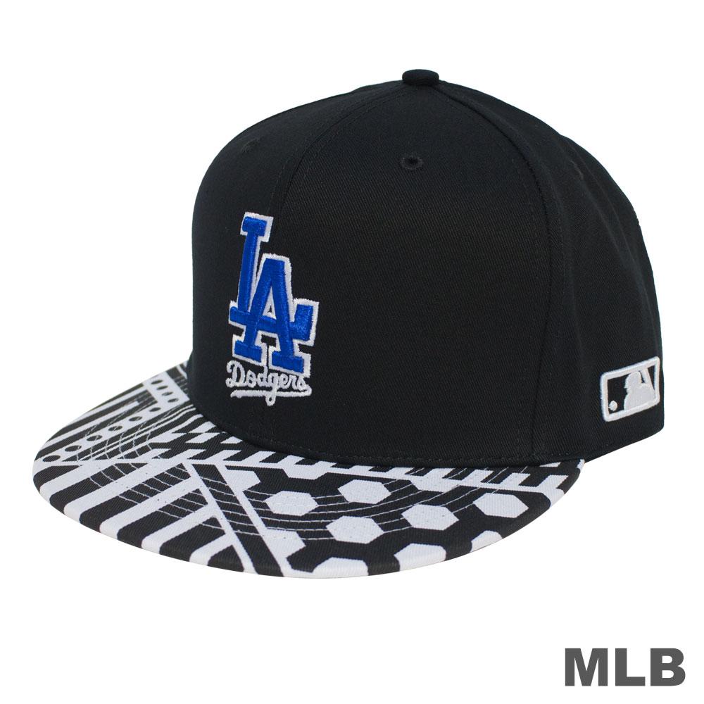 MLB-帽簷道奇印花可調式棒球帽 @ Y!購物