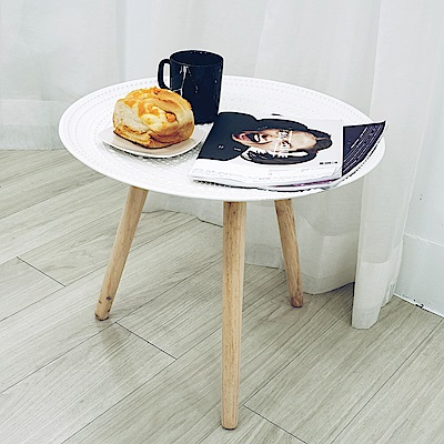 【收納職人】北歐立體浮雕花紋邊桌置物桌茶几(大)