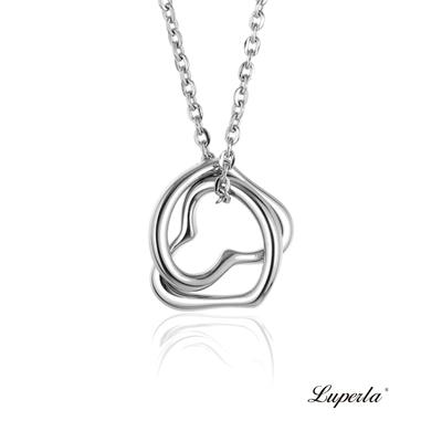 大東山珠寶 L&H Luperla 純鋼浪漫禮物項鍊 一生的摯愛 Hearts of both  16mm(純鋼)
