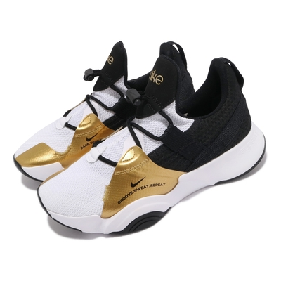 Nike 訓練鞋 SuperRep Groove 運動 女鞋 襪套 健身房 舒適 包覆 球鞋 穿搭 白 金 CT1248109