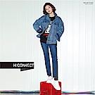 H:CONNECT 韓國品牌 女裝-復古女孩大學T-黑