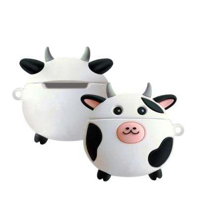 AirPods 1/2 乳牛 保護套 / 1代 2代 通用 藍牙耳機 AirPods 保護殼-乳牛*1