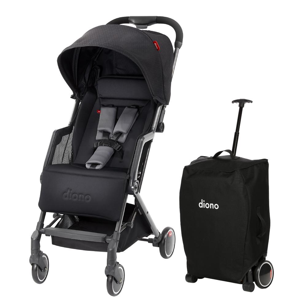 美國 【 Diono Traverze 】 TT 車, 黑立方 - 輕便型行李式秒收嬰幼兒推車 @ Y!購物