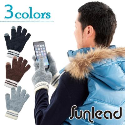Sunlead 螢幕觸控保暖防寒蓬鬆感輕量彈性手套