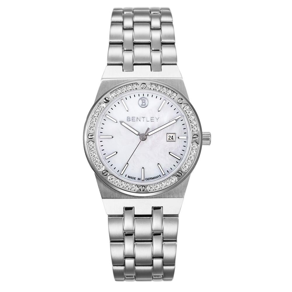 BENTLEY賓利 經典優雅系列 女神晶鑽手錶-白/33mm