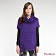 KeyWear奇威名品    特殊工藝A-line長版針織毛衣-紫色 product thumbnail 1