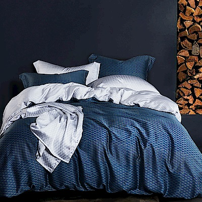 Ania Casa 一彎心跡 天絲 100% TENCEL 雙人鋪棉兩用被套床包四件組