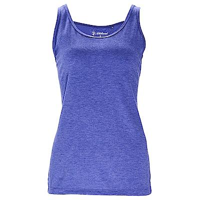 荒野【wildland】女彈性圓領內搭背心藍紫色