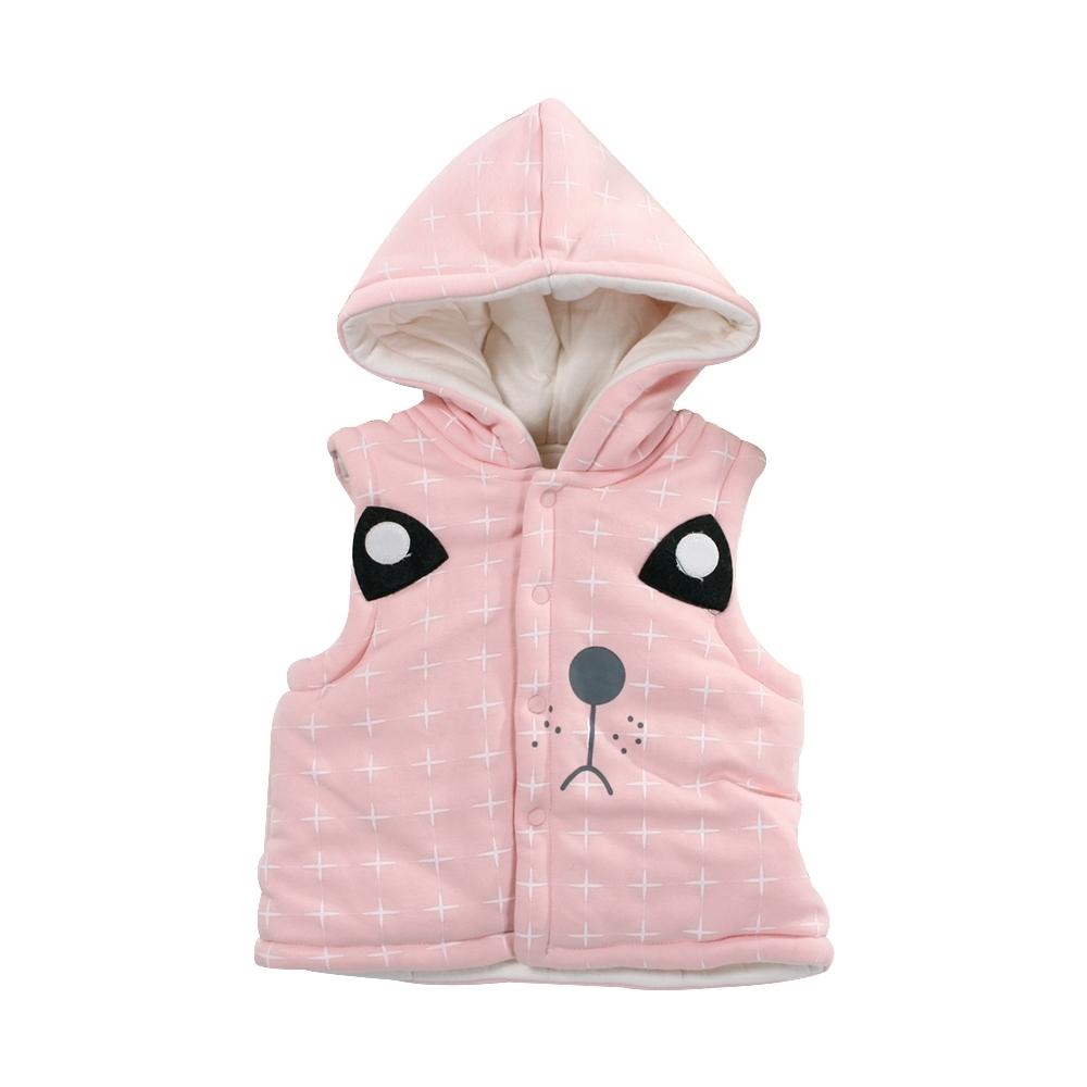魔法Baby動物造型鋪棉細絲絨連帽背心外套 k61080
