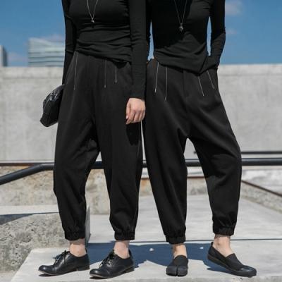 設計所在Style-原創自製冬季加厚抓絨鬆緊腰休閒褲