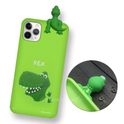 迪士尼授權正版 iPhone 11 Pro Max 6.5吋 趴姿公仔手機殼 親膚軟殼(抱抱龍)