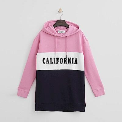 Hang Ten - 女裝 - 配色拼接印字帽T-粉紅色