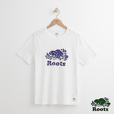 Roots 男裝-台灣系列短袖T恤-白色