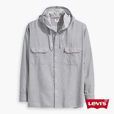 長袖襯衫 男裝 雙口袋 條紋 - Levis