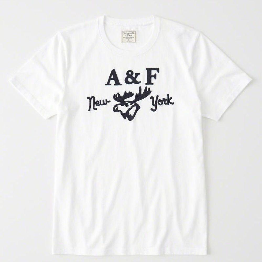 AF a&f Abercrombie & Fitch 短袖 T恤 白 0952