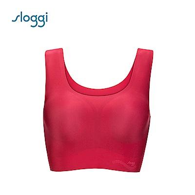 sloggi ZERO Feel Top 零感系列圓領背心式內衣 紅玫瑰