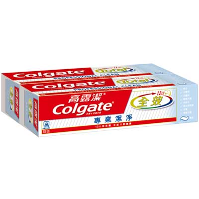 高露潔 全效牙膏 專業潔淨 (膏狀) 150gX2入