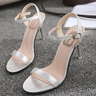 KEITH-WILL時尚鞋館 女人話題典雅高跟涼鞋-銀色