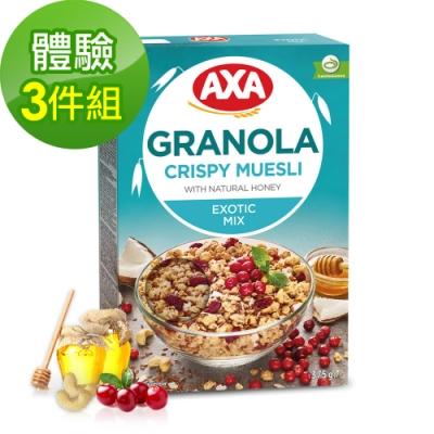 699免運瑞典AXA亞麻籽莓果穀物麥片3件組375gx3