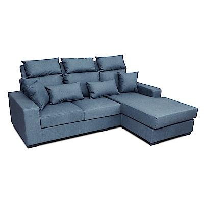 多瓦娜-安哥拉貓抓皮L型沙發/三色