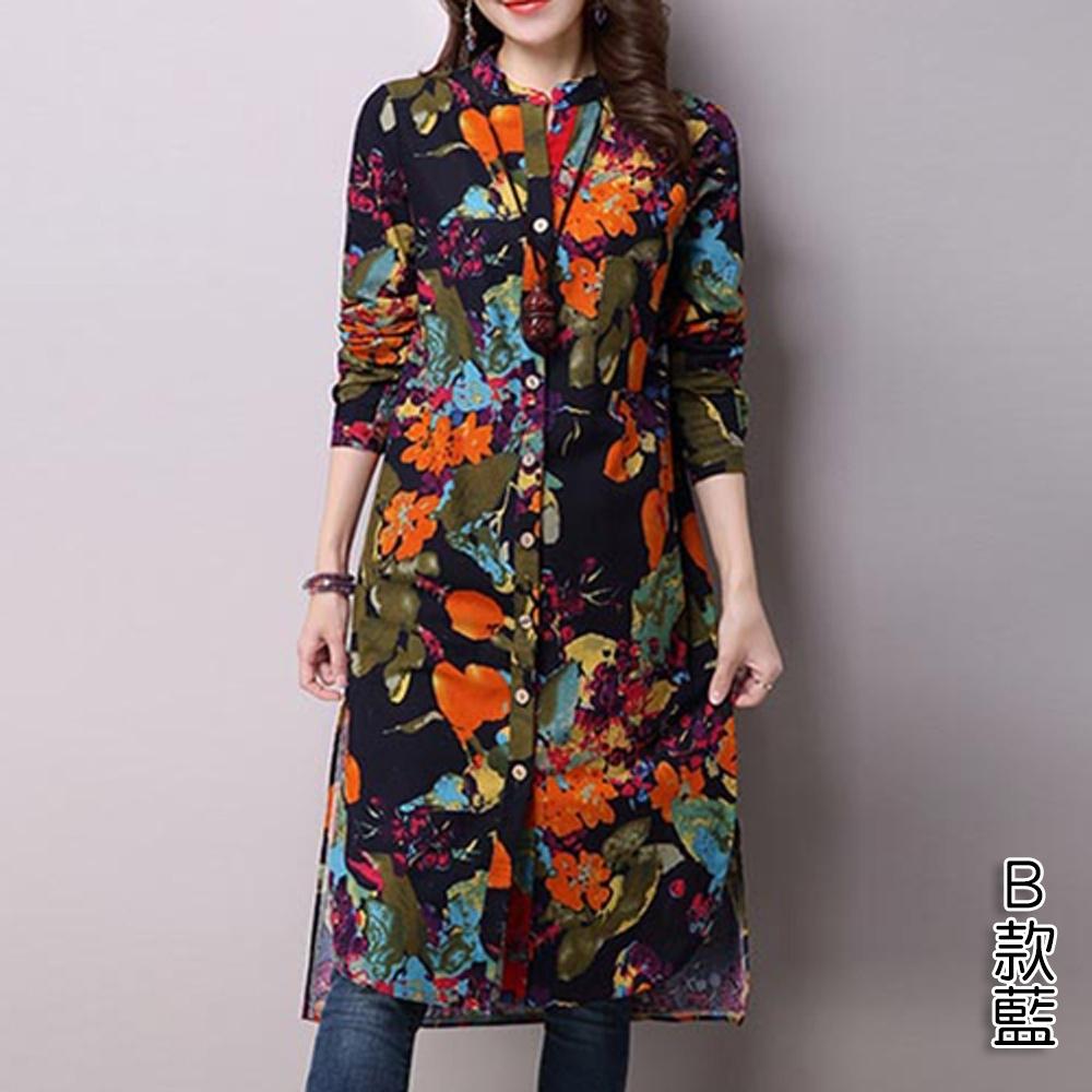 【韓國K.W.】激殺價兼具流行設計花卉上衣洋裝(4款可選) product image 1