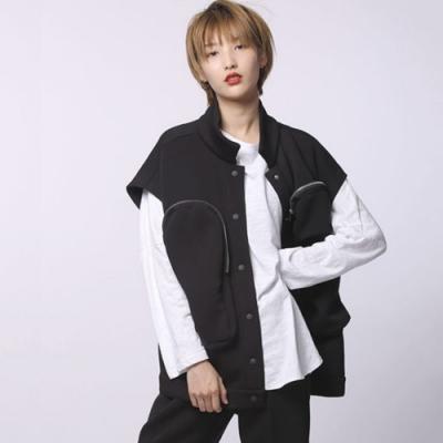 設計所在Style-工裝套裝馬夾+短褲時尚寬鬆休閒顯瘦倆件套