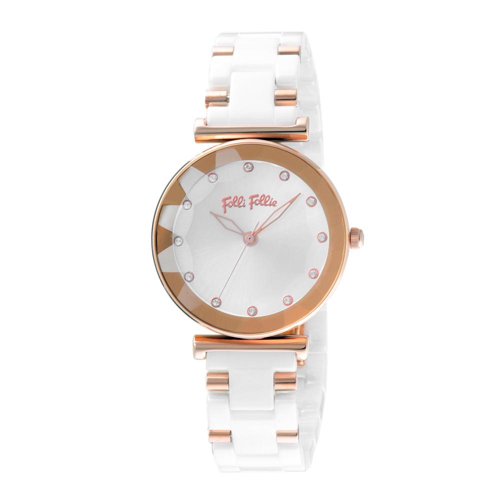 Folli Follie 春光流露晶緻陶瓷腕錶(WF18R003BSW-XX)