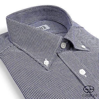 GIBBON 精紡純棉細格紋休閒襯衫‧深紫
