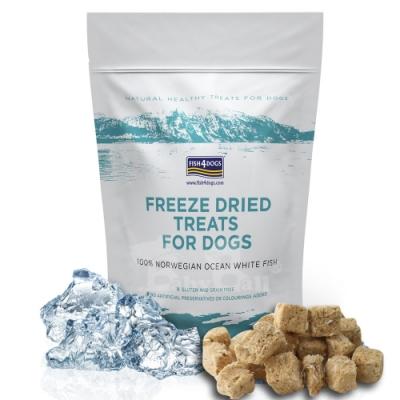 即期良品 海洋之星FISH4DOGS 冷凍乾燥全魚肉塊25gX2包入
