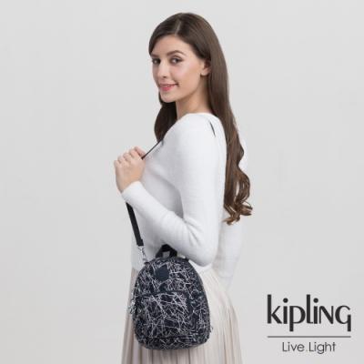 Kipling 英式白漆塗鴉兩用側背雙肩包-GLAYLA