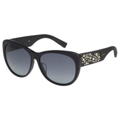DIOR 水鑽系列 太陽眼鏡(黑色)