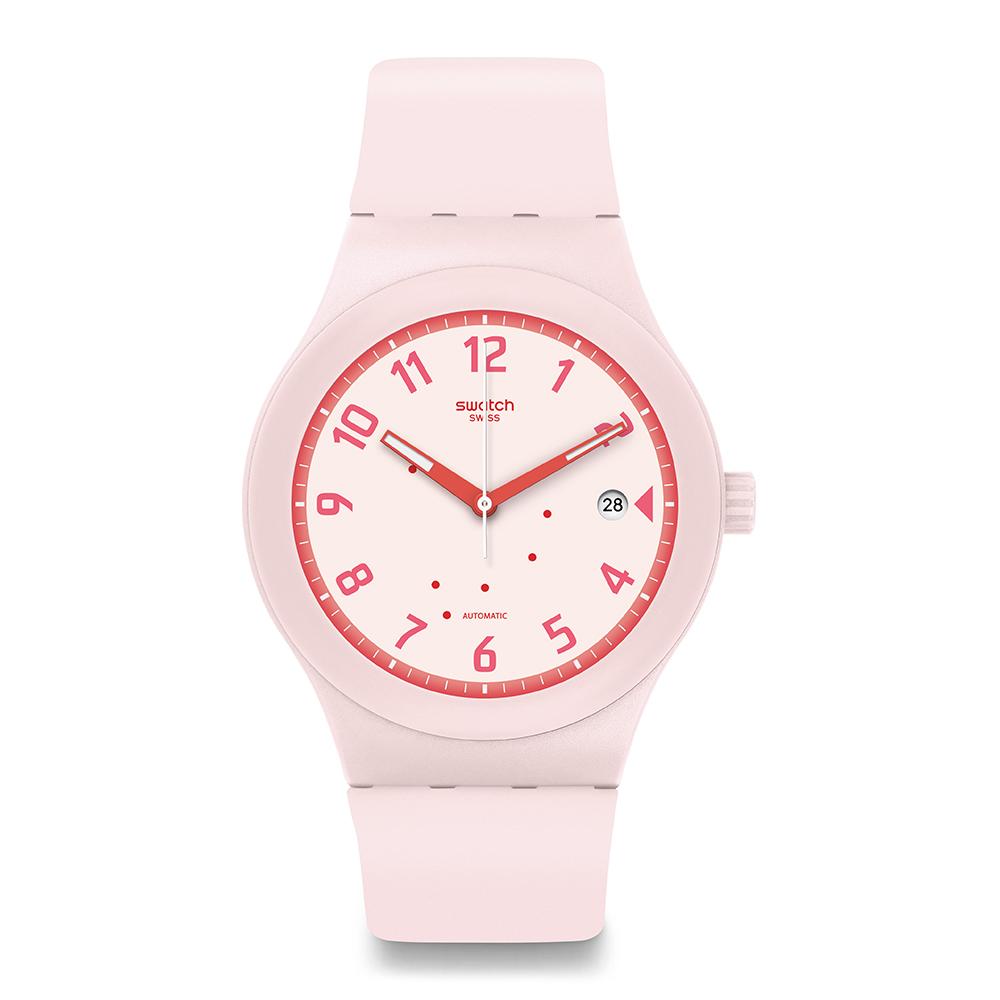 Swatch 51號星球機械錶 SISTEM BLUSH 甜心時刻手錶