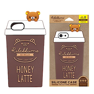 iPhone 8/7/6s/6 拉拉熊/角落生物 造型矽膠 軟殼 4.7吋-蜂蜜...