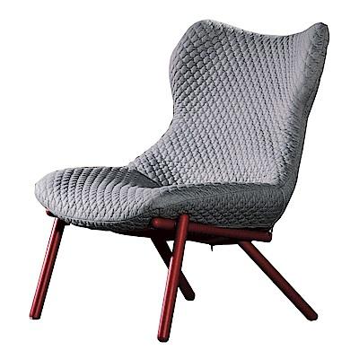 品家居 安朵拉亞麻布實木單人沙發椅-71x70x83cm免組