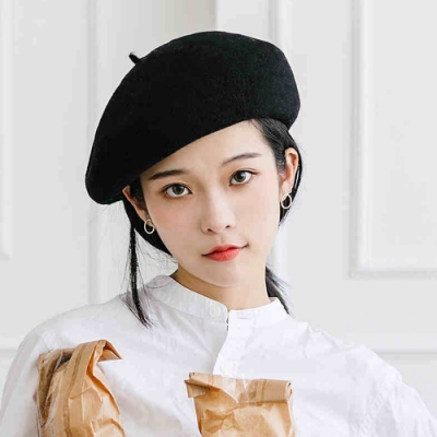 Redberry 秋冬羊毛貝雷帽 羊毛帽 復古帽 畫家帽 女性時尚潮流帽