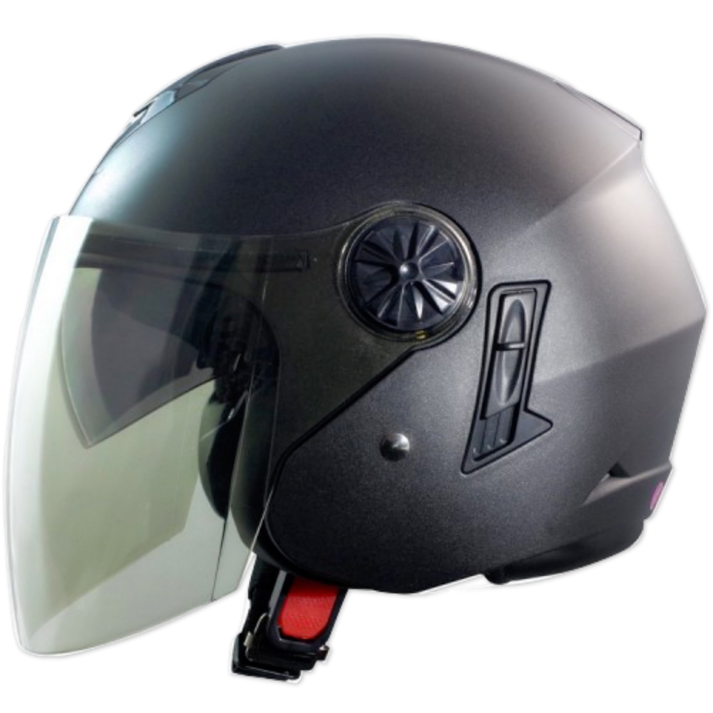 GP-5-時來運轉 繽紛安全帽 │導流通風設計│機車│內襯│開放式安全帽│內墨鏡 (消光鐵灰)