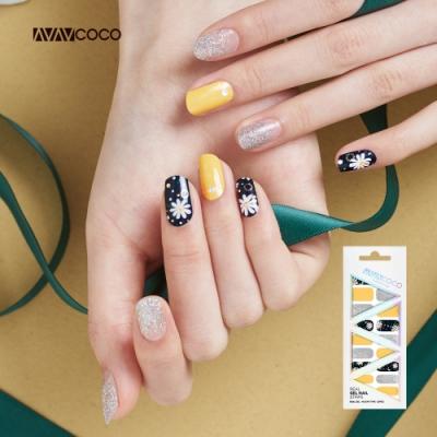 VAVACOCO 光感凝膠光療美甲貼片-陽光雛菊20片(網路款送小搓刀)